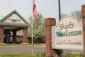 shady lawn entrance